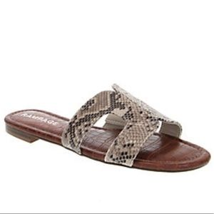 Rampage Women's Ophelia Studded Snake Sandals
